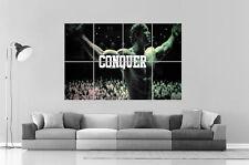Arnold Schwarzenegger Conquer Bodybuilding Wall Art Poster Grand format A0