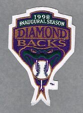 ARIZONA DIAMONDBACKS 1998 INAUGURAL SEASON AUTHENTIC MLB JERSEY PATCH