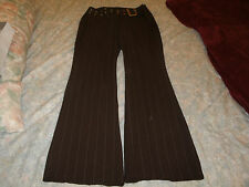 Rampage ladies dark brown pinstriped dress pants size 3