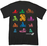 Nintendo Mario Kart 8 Black Men's Graphic T-Shirt New