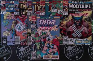 What If #30-33 35 37-38 Vol 2 1991 Marvel X-Men Cosmic Spider-Man Venom Punisher
