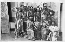 BL360 Carte Photo vintage card RPPC groupe déguisement indiens costume