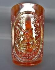 """Imperial WINDMILL Marigold Carnival Glass Antique 4"""" Tumbler 5041"""