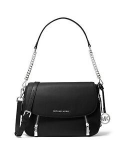 Michael Kors Bedford Legacy Black Leather Flap Shoulder Bag