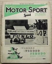 MOTOR SPORT Magazine Sept 1947 IOM & ULSTER RACE REPORTS Gardners MG Record