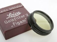 Leitz Filter A36 gelb 0 + gelbfilter 2 yellow 0 + yellow 2 slip on very early