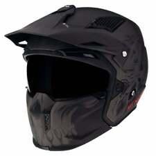 MT Streetfighter Darkness Motor Bike Motorbike Motorcycle Helmet - Black/ Grey