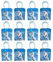 """NEW 12x Disney Frozen """"Olaf"""" Summer Party Favors Goody Loot Gift Candy Bags"""
