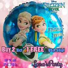 """❤ 18"""" Frozen Fever Round Birthday Balloon Balloons Disney's princess Ana ELsa"""