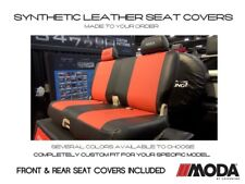 Coverking Moda Synthetic Leather Front & Rear Seat Covers for Chevy Camaro