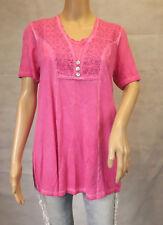 ★ GINA LAURA ★ M 40/42 Shirt ~ Longshirt ~ pink ~ kurzarm ~ Tunikashirt ~ NEU