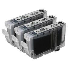 3pk For Canon CLI-8 Black Pixma iP4200 iP5200 iP5200R iP6600D MP500 MP800 MP800R