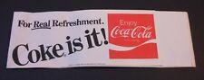 """Vintage Coca Cola Soda Jerk Hat """"Coke is it #2"""""""