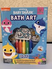 PinkFong Baby Shark Color Create Bath Art Set Crayons Stickers NEW