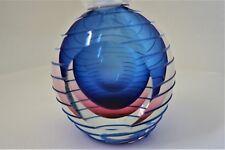 FLAVIO DE POLI sommerso glass vase murano seguso vetri d'arte 50s 60s