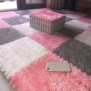 One Piece DIY Puzzle Mat EVA Foam Villus Shaggy Carpet Playmat Plush Warm Soft