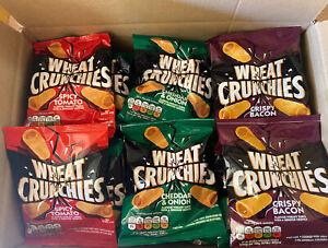 Wheat Crunchies x 3 Flavour 45 Bag Mega Bargain. Over  600 boxes Sold. Free p&p.