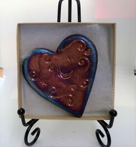 RAKU Pottery Works Blessed Heart Moon Signed By Artist NEW In Box