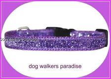 viola brillante cane piccolo/COLLARE CUCCIOLO 25.4cm-38.1cm 1.3cm LARGO TESSUTO