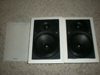 Pair Of Paradigm Ceiling In Wall Speakers A50AMS20000001 MISSING 1 GRILL ASIS