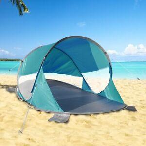 XXL Pop Up Strandmuschel 200x120x90 cm UV50+ Strand Wurfzelt Sonnenschutz