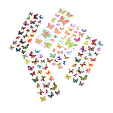 5 Sheets Colorful 3D Butterflies Scrapbooking Bubble Puffy Stickers Pop ATAU