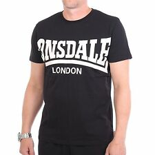 Lonsdale York Camiseta Camisa Para Hombres, color negro, 31833