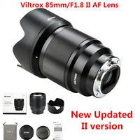 Viltrox 85mm F1.8 II AF Large Aperture STM Lens for Sony E-Mount A9 A7R2 A6400