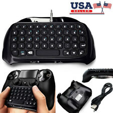 Mini Wireless Bluetooth Keyboard Chatpad Gamepad 3.5MM For Playstation 4 PS4 US