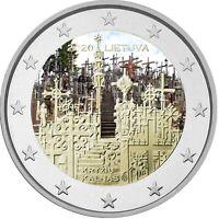 2 Euro Gedenkmünze Litauen 2020 coloriert Farbe / Farbmünze Berg der Kreuze   2