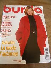 MAGAZINE BURDA SURPIQURES DECORATIVES ROUGE ET BRUN COULEURS DE SAISON   1997