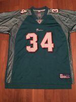 Vintage Reebok on field Miami dolphins Ricky Williams jersey size XL