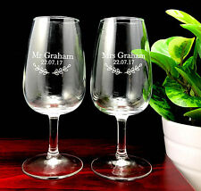 Personalised Wedding Favours Engraved XL5 Wine Tasting Glass 215 ml