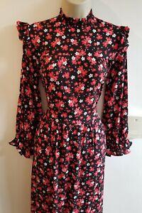 New Stunning ZARA Midax Size M 10 12 Floral Ditsy Midi Maxi Vtg Boho Dress