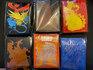 6 Packs 65 Pokémon Card Sleeves - ETB Vivid Voltage, Hidden Fates Charizard