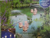 Wasserlicht Luminaria 4er Set für Teich Pool Stimmungslicht Party Licht Teelicht