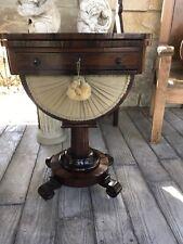 Antique Empire Work Game Table Rosewood Veneer 19th Century Stunning Original