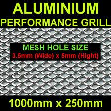 Size 25x100cm Mesh 3,5x5mm Silver Aluminium Race Net Grill Spoiler Bumper Vent