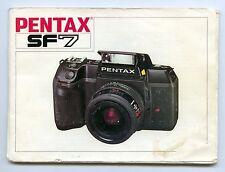 Pentax SF7 - Manuale/Libretto di Istruzioni - Italiano