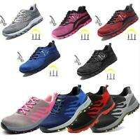 Women Safety Work Shoes Steel Toe Boots Indestructible Hiking Climbing Sneakers