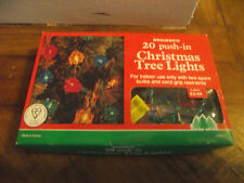 20 push in christmas tree lights from Woolworths still boxed in good working con