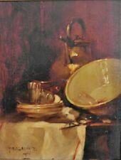 """Tableau Marcel ARNAUD. """" Nature morte""""  Huile sur panneau, datée 1903  . v1371."""