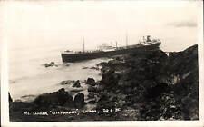 The Lizard. Tanker D.H.Harper Shipwreck 1935 by Hawke.