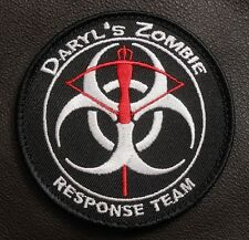 DARYL'S ZOMBIE HUNTER WALKING RESPONSE TEAM DEAD OUTBREAK SWAT IRON ON PATCH USA