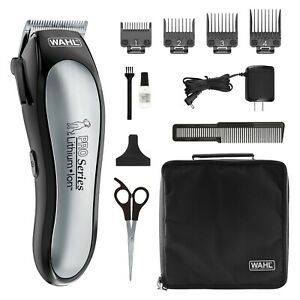 Wahl Lithium Ion Pro Series Rechargeable Cordless Dog Pet Clippers Kit (9177)