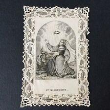CANIVET STE MARGUERITE Dragon Image Pieuse HOLY CARD 19thC Santino