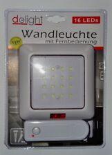 Wandleuchte mit Fernbedienung 16-LED Wand Lampe Leuchte Batterie-betrieben Licht