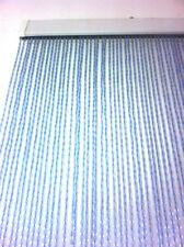 Tenda uscio PVC zanzariera kit facile da montare 90x210 cm MADE IN ITALY azzurro