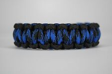 550 Paracord Survival Bracelet Cobra Black/Bruiser Camping Military Tactical