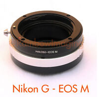 Nikon G AFS lens to CANON EOS-M Mirrorless Camera M5 M6 M100 Adapter Aperture